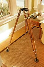 """O Connor """"Standard"""" WOODEN TRIPOD STIX-LEGS Made in California Vintage Support"""