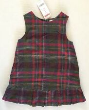 NWT Gymboree Fall Forest 3 3T Herringbone Plaid Jumper Dress