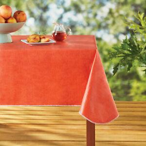 "Mainstays Coral Summer Linen Print Vinyl Tablecloth 60""x84"" Rectangular"