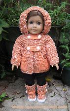 """Poupées vêtements en tricot motif hkd 615"""" tamasyn """"de taille pour s'adapter 18"""" poupées/american girl"""