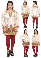 PLUS SIZES Women Kurta Indian Kurti Tunic Multicolor Shirt Dress EPLUS111A