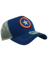 New Era Captain America 9forty Adjustable Hat Marvel Heroes Red White Blue NWT