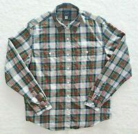 J. Crew Men's Sportsmen's Outfitter LG Flannel Button Up Long Sleeve Plaid Green
