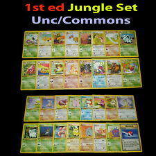 NM 1st edition COMPLETE Pokemon JUNGLE 32-Card Uncommon/Common Set/64 Butterfree