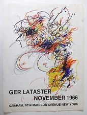 GER LATASTER Exhibition Poster Graham Gallery 1966
