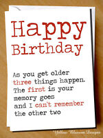 Funny Happy Birthday Greetings Card Hilarious Old Best Friend Mum Dad Sister Bro