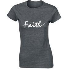 Celebrity Faith Designer Womens Christian T-Shirt Tshirt Casual Top Slogan Tops