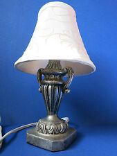 "2004 Ul 11.0"" Stylish Silver ~Pewter~ Table Dresser Bar Accent Night Light Lamp"