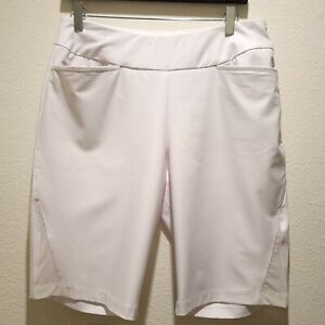 Tail Brand White Label Shorts, White, Women's Sz10 Golf Active Pull On Stretch