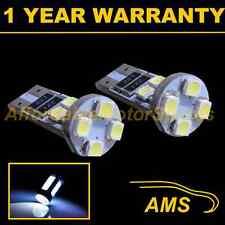 2X W5W T10 501 CANBUS ERROR FREE XENON WHITE 8 LED SIDE REPEATER BULBS SR101602