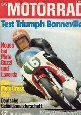 M7117 + Test TRIUMPH Bonneville 650 ccm + BSA Victor MC 500 + MOTORRAD 17/1971