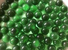 25 CLEAR BOTTLE GREEN GLASS MARBLES 16mm timeless traditional toy/game art