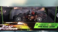 1:18 FAST AND THE FURIOUS 2000 Honda S2000 NEGRO
