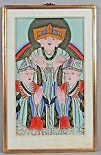 Fine Old Tibet Sino Tibetan Hand painted Buddhist Image ca. 19-20th century