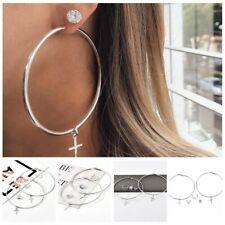 Dangle Stud Earrings Wedding Accessories 7Pcs Women Crystal Big Circle Statement