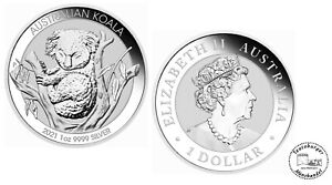 Australien 1 Dollar Koala 2021 1oz 999 Silber  * St / Bu *