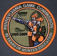 """Pa Pennsylvania Game Commission 4"""" 50 Year Comemmorative Hunter Education Patch"""