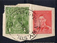 AUSTRALIA = RAILWAY POSTMARK - `(LATE) FEE SYDNEY RLY. STN.` 1937 on G5 Head.