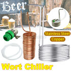 Wort Chiller Copper Coil Home Brewing Beer Immersion + Silicone Tube + Tap Joint