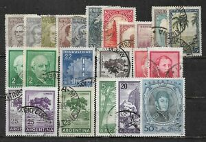ARGENTINA, 23 VARIOUS,  USED