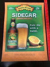 Sierra Nevada Beer (SIDECAR) Orange Pale Ale Beer Poster