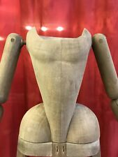 Madonna Manichino Gabbia Stile '600 Vintage Wood Statua Santa 53 Cm Dummy