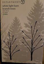 Department 56 White Light Bare Branch Trees (set of 2) lit trees