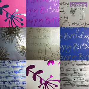HALLMARK WRAPPING PAPER GIFT ALL OCCASIONS WEDDING BIRTHDAY BABY CONGRATULATIONS