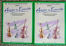 Set of 2 Artistry in Ensembles - Book 1 - Beginning-Level Ensembles for Strings