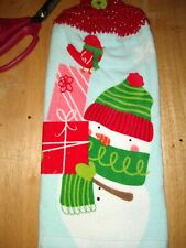 Plush Reversible Hanging Kitchen Dish/Hand Towel Crocheted  Christmas