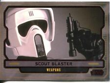 Star Wars Galactic Files 2 Red Parallel Base Card #629 Scout Blaster