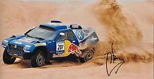 Carlos Sainz firmado 12x8 Red Bull VW Touareg, Daker Rally 2010