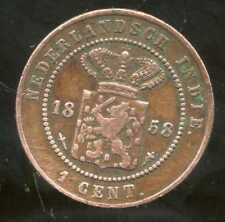PAYS BAS ( indie )  1  cent    1858