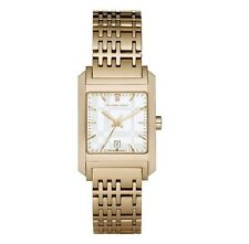 Burberry Watch Womens BU1574 Gold Ion Plated Swiss Date Dial 25 Mm