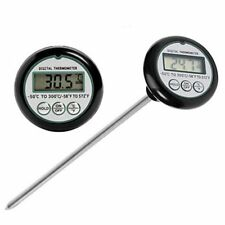 BBQ CHARCOAL GRILL PIT WOOD SMOKER TEMP GAUGE THERMOMETER CAMPING BARBECUE COOK