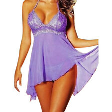Plus Size Women Sexy Lingerie Lace Dress Underwear Baby doll Sleepwear G-stringJ