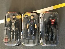 Gi Joe 25th Anniversary Lot Of 3 Torpedo Cobra Eel Flint in Disguise Read L@@K