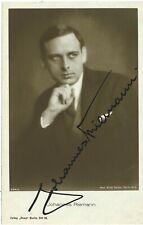 JOHANNES RIEMANN (1926) German Silent Film Postcard SIGNED BY JOHANNES RIEMANN