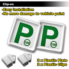 Clip It On (green P-100) Plate Clips Car Number Licence Plate 2pcs Set NSW Only