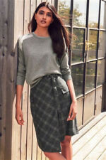 BRAND NEW NEXT CHECK WRAP SMART SKIRT - SIZE 16 BNWT RRP £34