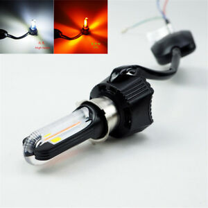 Motorcycle LED Headlight H4 P15D H6 HS1 Red DRL Driving Fog Bulb 40W Hi/Low Beam