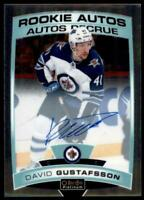 2019-20 OPC Platinum Rookie Auto #R-DG David Gustafsson RC - Winnipeg Jets