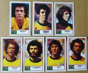 ROTHMANS FOOTBALL INTERNATIONAL SOCCER STARS 1984 x 7 BRAZIL
