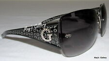 Guess Jeans Sun Glasses Glass SunGlasses Eyewear Black Rimless GU 6489F Case NIB