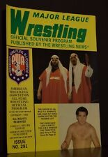 Major League Wrestling Official Souvenir Program 1982 Issue No 291