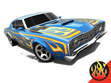 Hot Wheels Cars - '69 Mercury Cyclone Blue