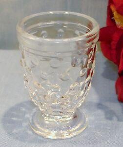 Crystal Depression Glass Hocking Hobnail Whiskey Shot Glass