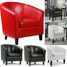 Luxury Leather Tub Chair Armchair Sofa for Dining Living Room Office Reception