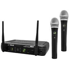 Pyle PDWM3375 2Ch UHF Wireless Handheld Mic System