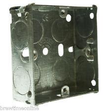 Paquete De 5 Caja posterior de metal 1G único Appleby 25mm profunda para Eléctrico Enchufe de pared